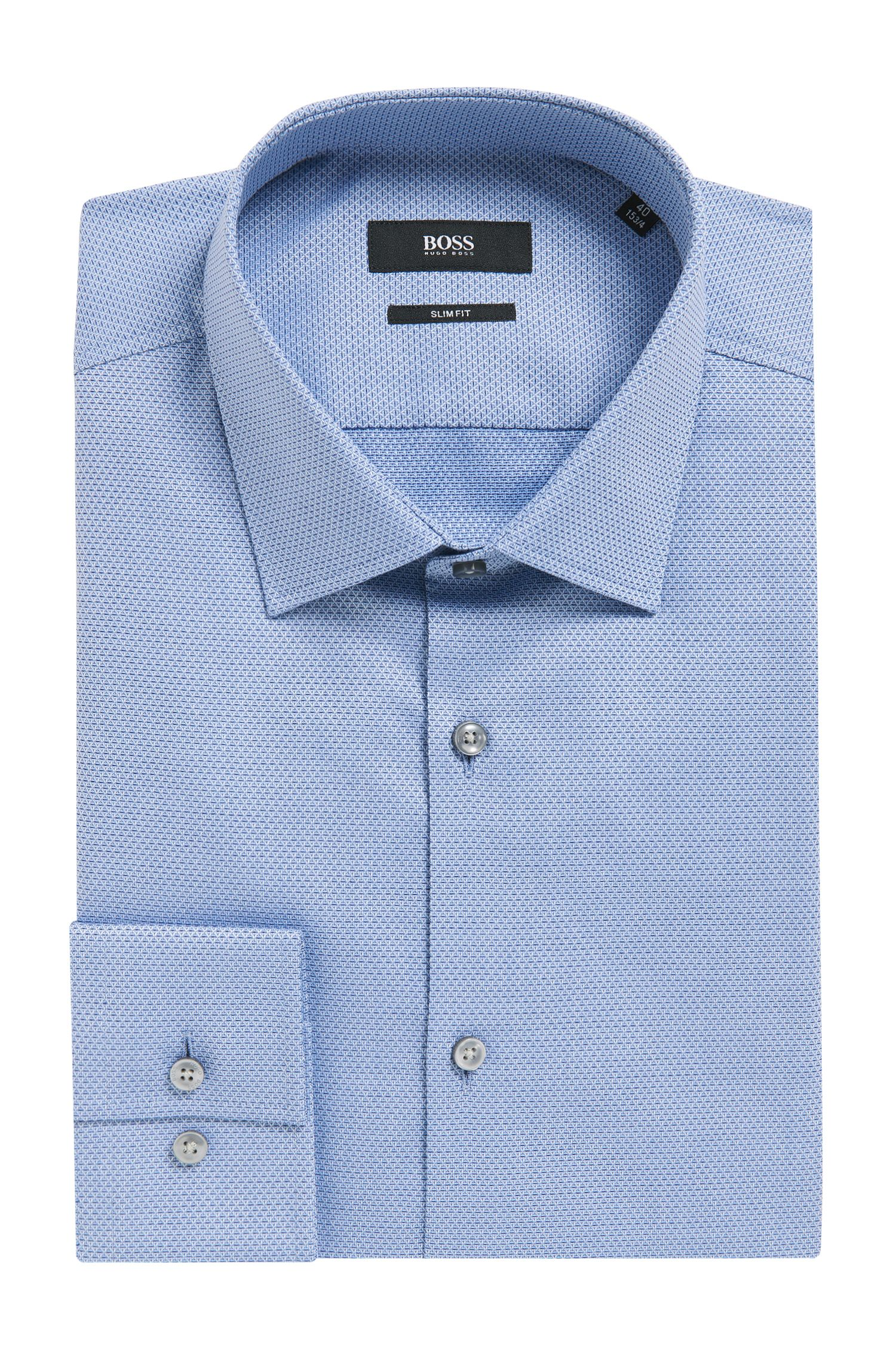 Diamond Print Cotton Dress Shirt, Slim Fit | Jenno