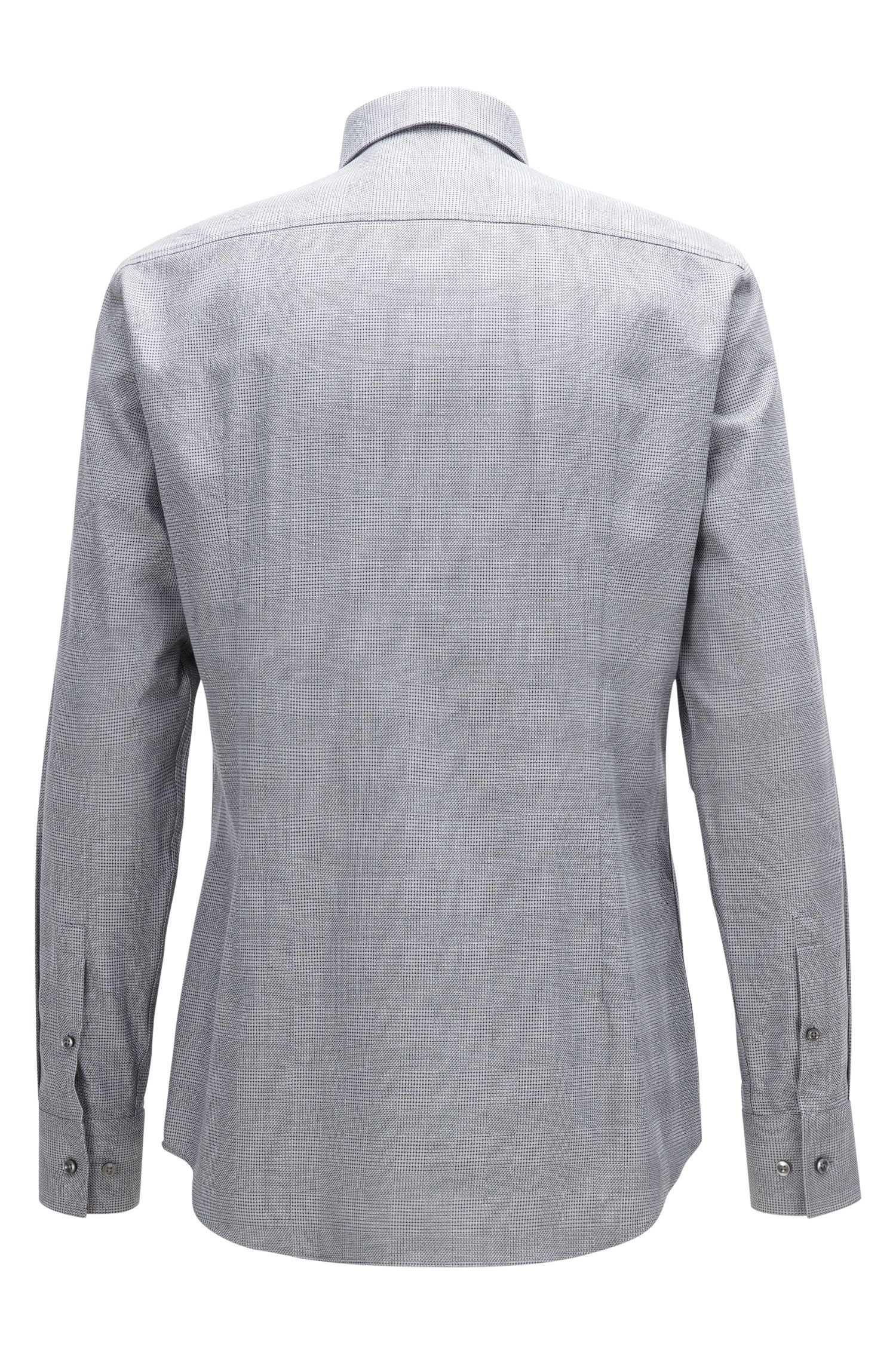 Plaid Cotton Dress Shirt, Slim Fit | Jenno