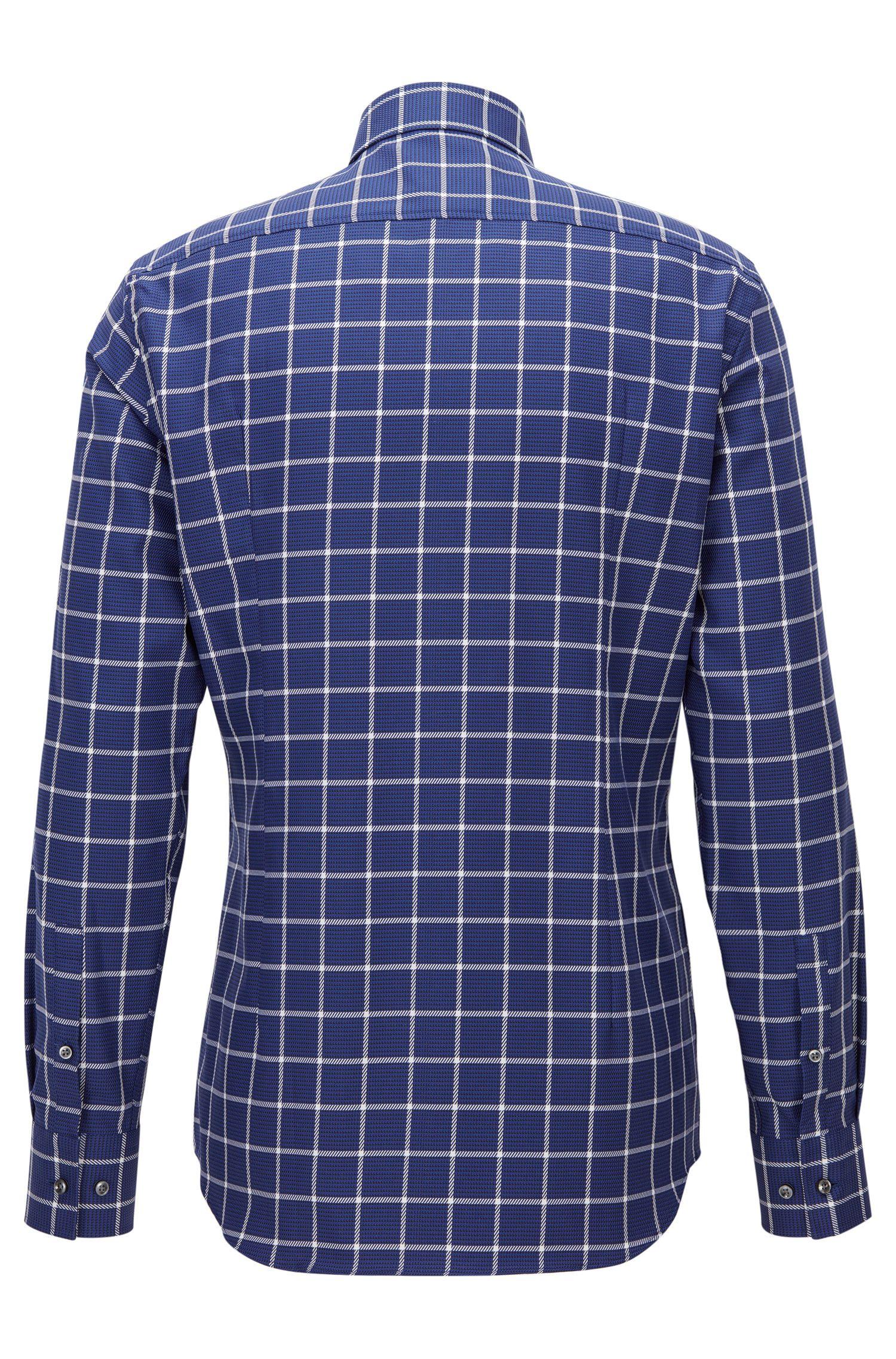 Plaid Cotton Dress Shirt, Slim Fit | Jason