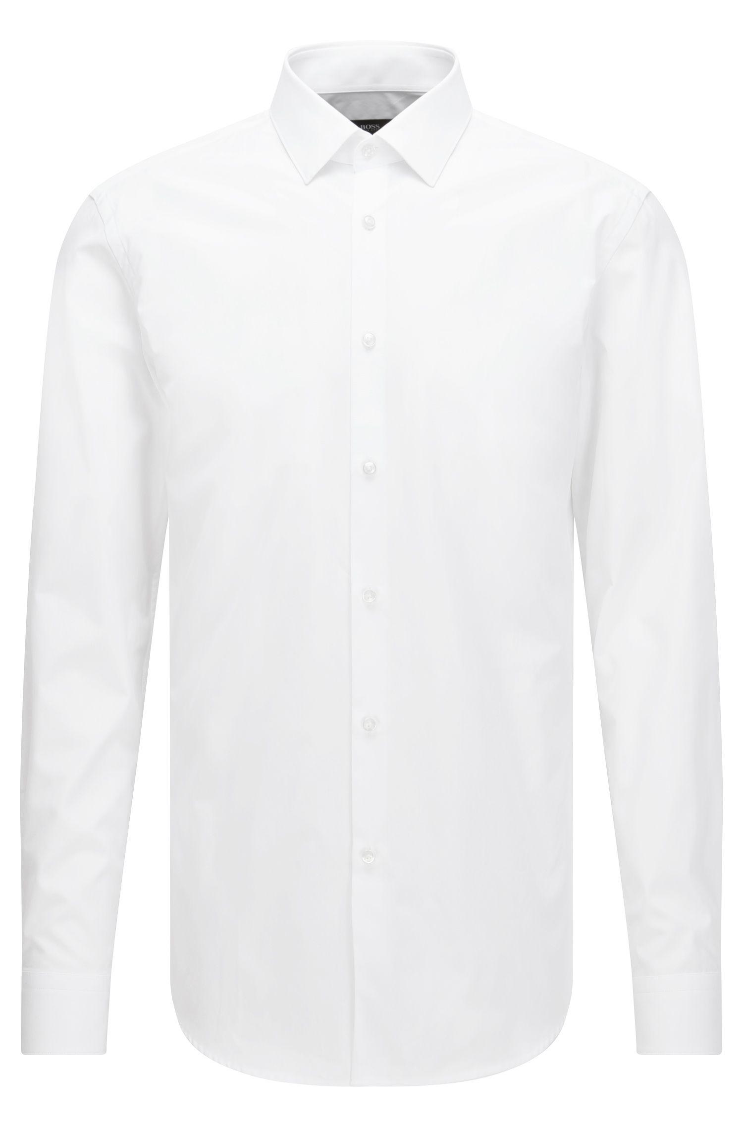 Two-Ply Cotton Dress Shirt, Slim Fit | Isko, White