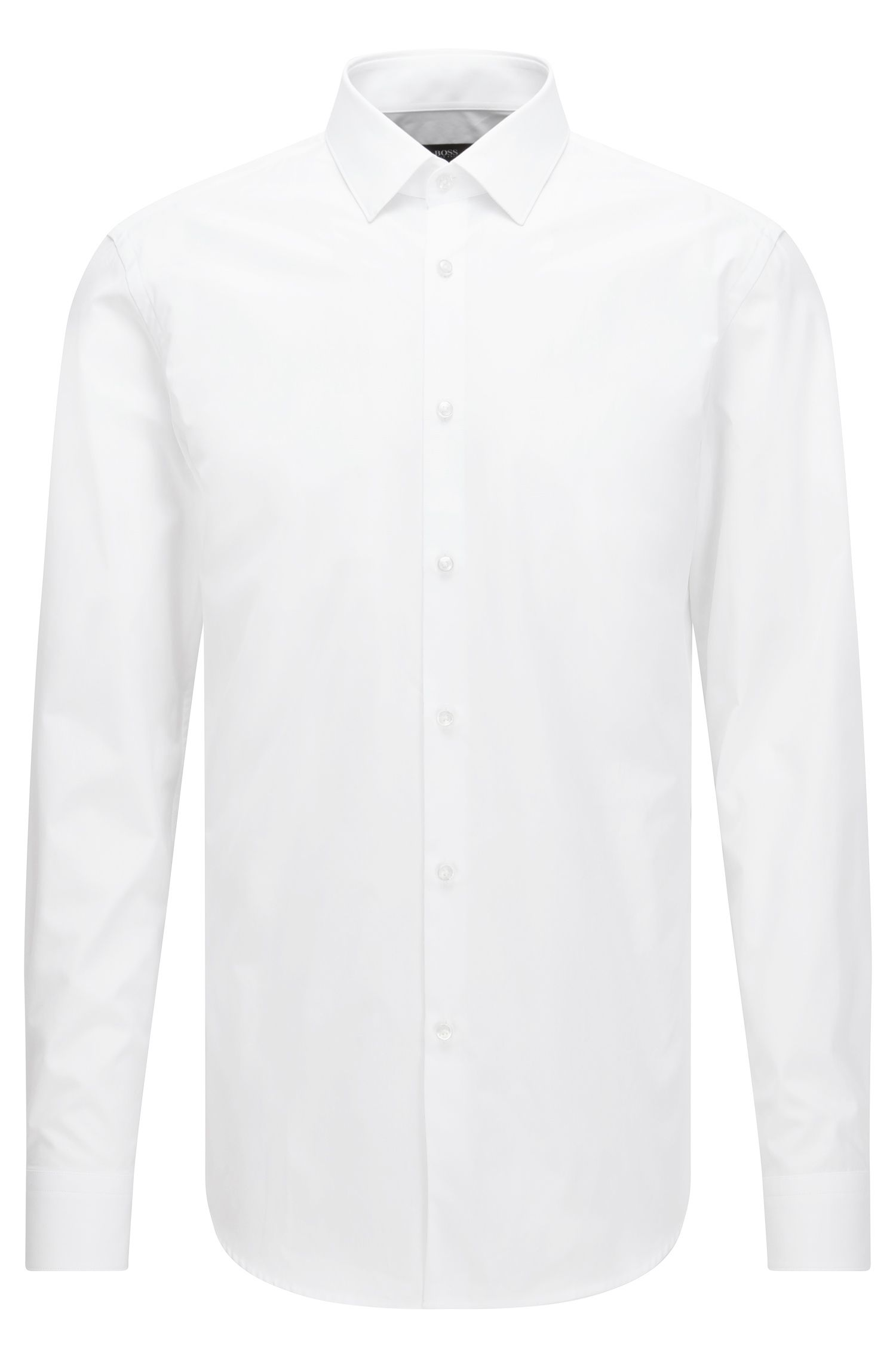 Two-Ply Cotton Dress Shirt, Slim Fit | Isko