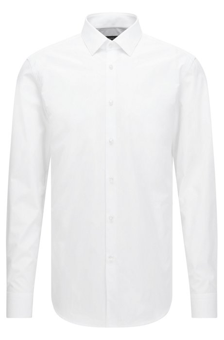6172fea71 BOSS - Two-Ply Cotton Dress Shirt, Slim Fit | Isko
