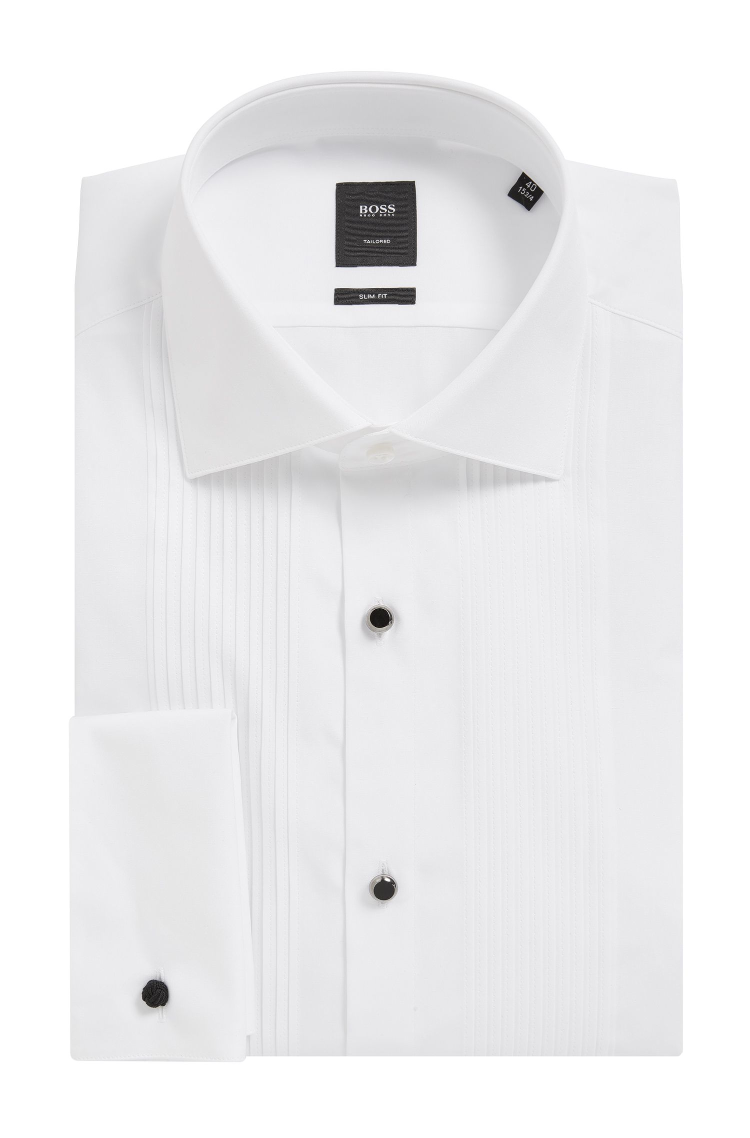 'T-Cameron' | Slim Fit, 2-Ply Egyptian Cotton Dress Shirt