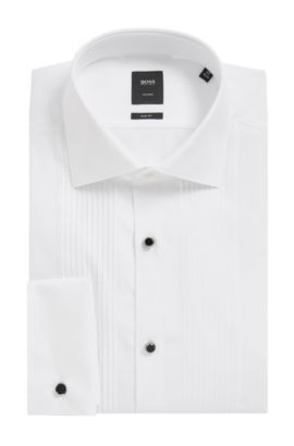 'T-Cameron' | Slim Fit, 2-Ply Egyptian Cotton Dress Shirt, White