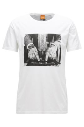 'Taboo' | Cotton Graphic T-Shirt, White