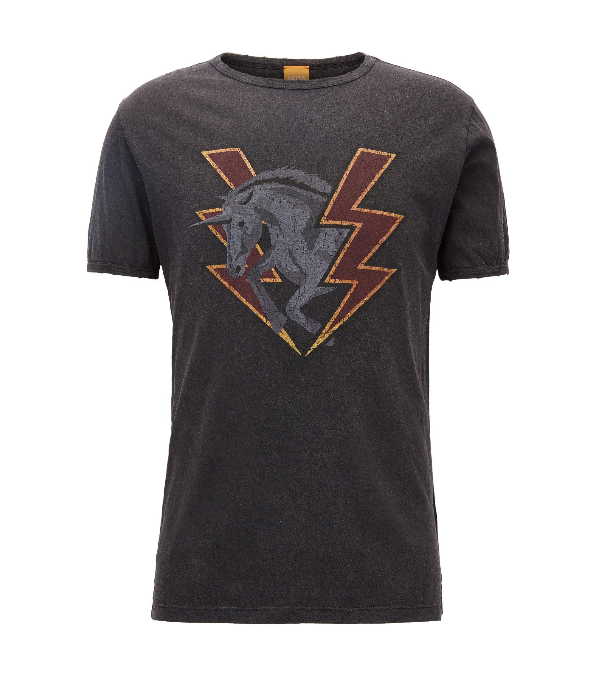 Cotton Graphic T-Shirt | Taboo, Black