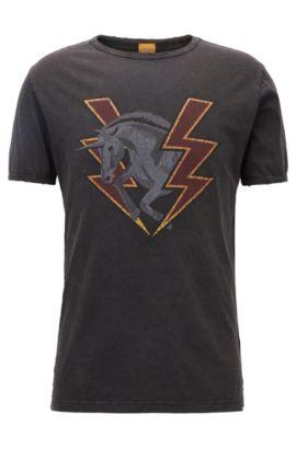 Cotton Graphic T-Shirt   Taboo, Black