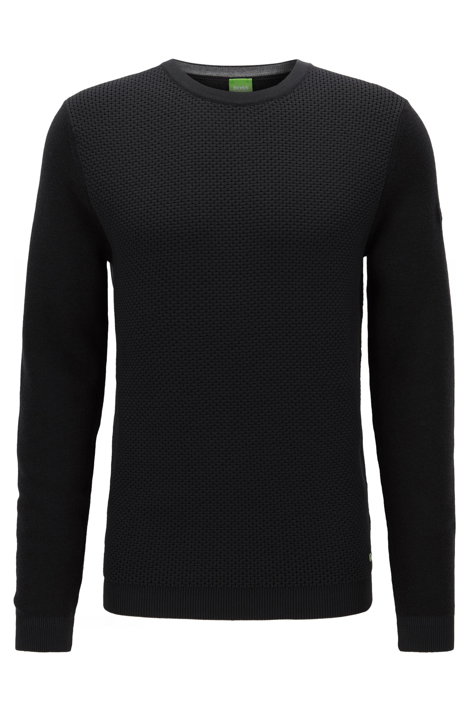 Knit Virgin Wool Sweater | Rance, Black