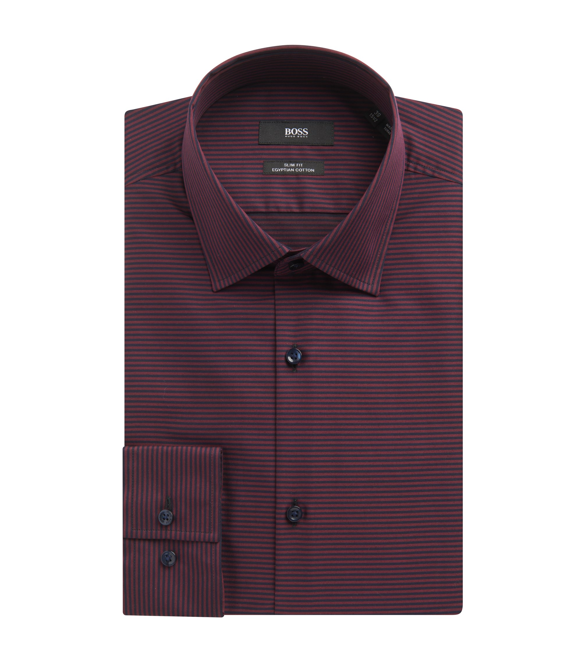 Cotton Dress Shirt, Slim Fit   Jamar, Red
