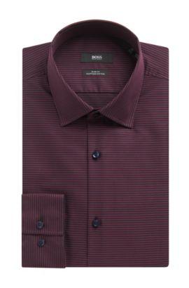Cotton Dress Shirt, Slim Fit | Jamar, Red