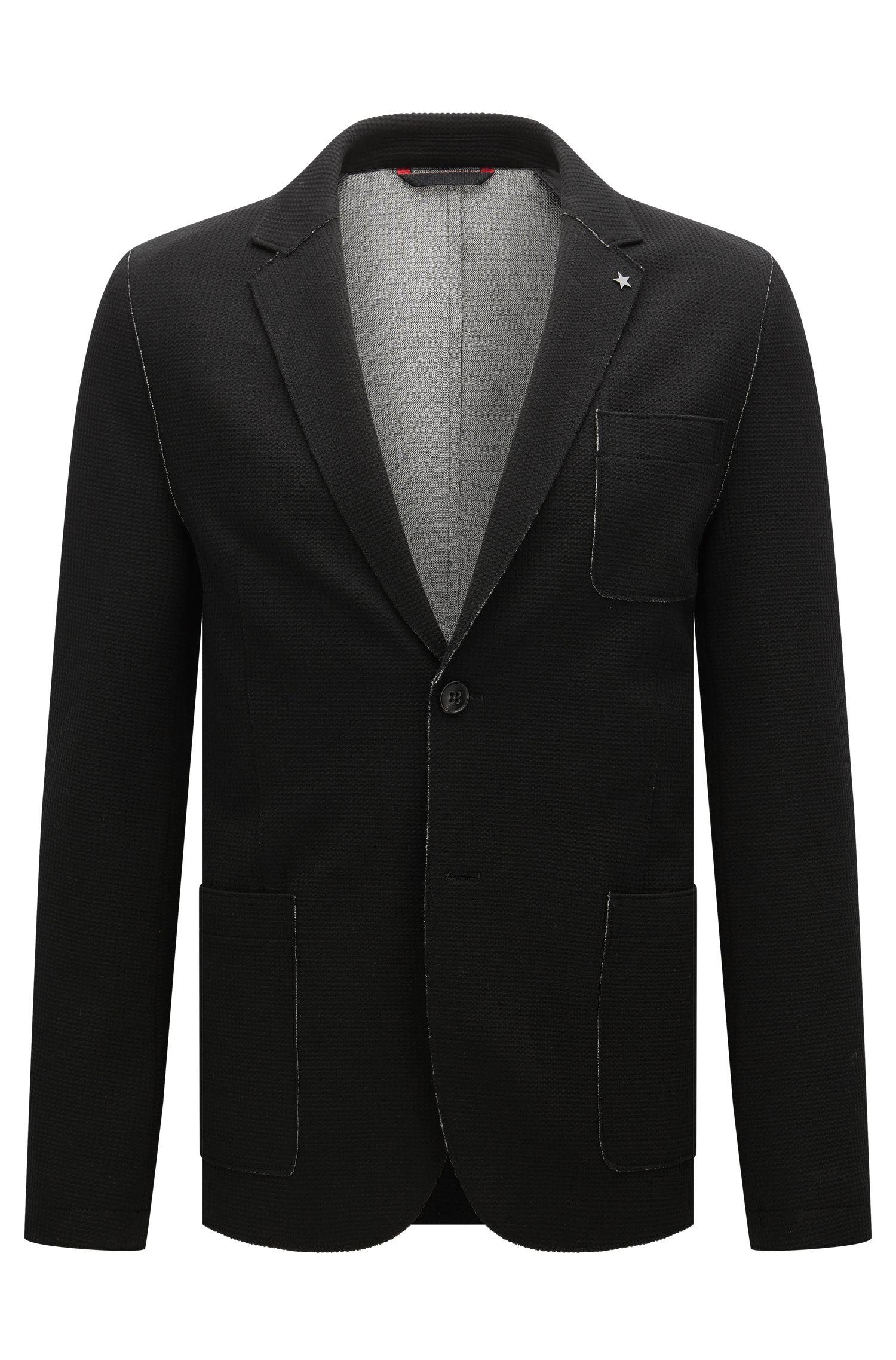 Waffle Knit Jersey Sport Coat, Slim Fit | Agalton