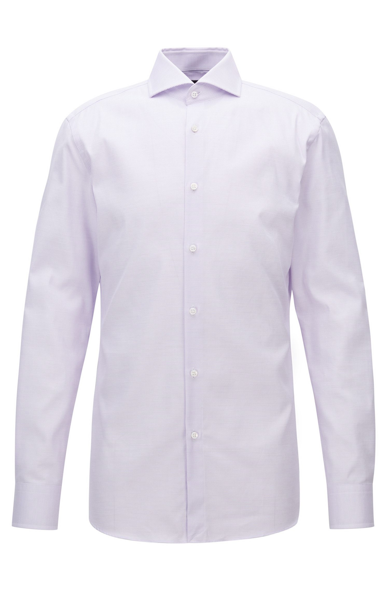 Mini-Check Cotton Dress Shirt, Slim Fit | T-Christo