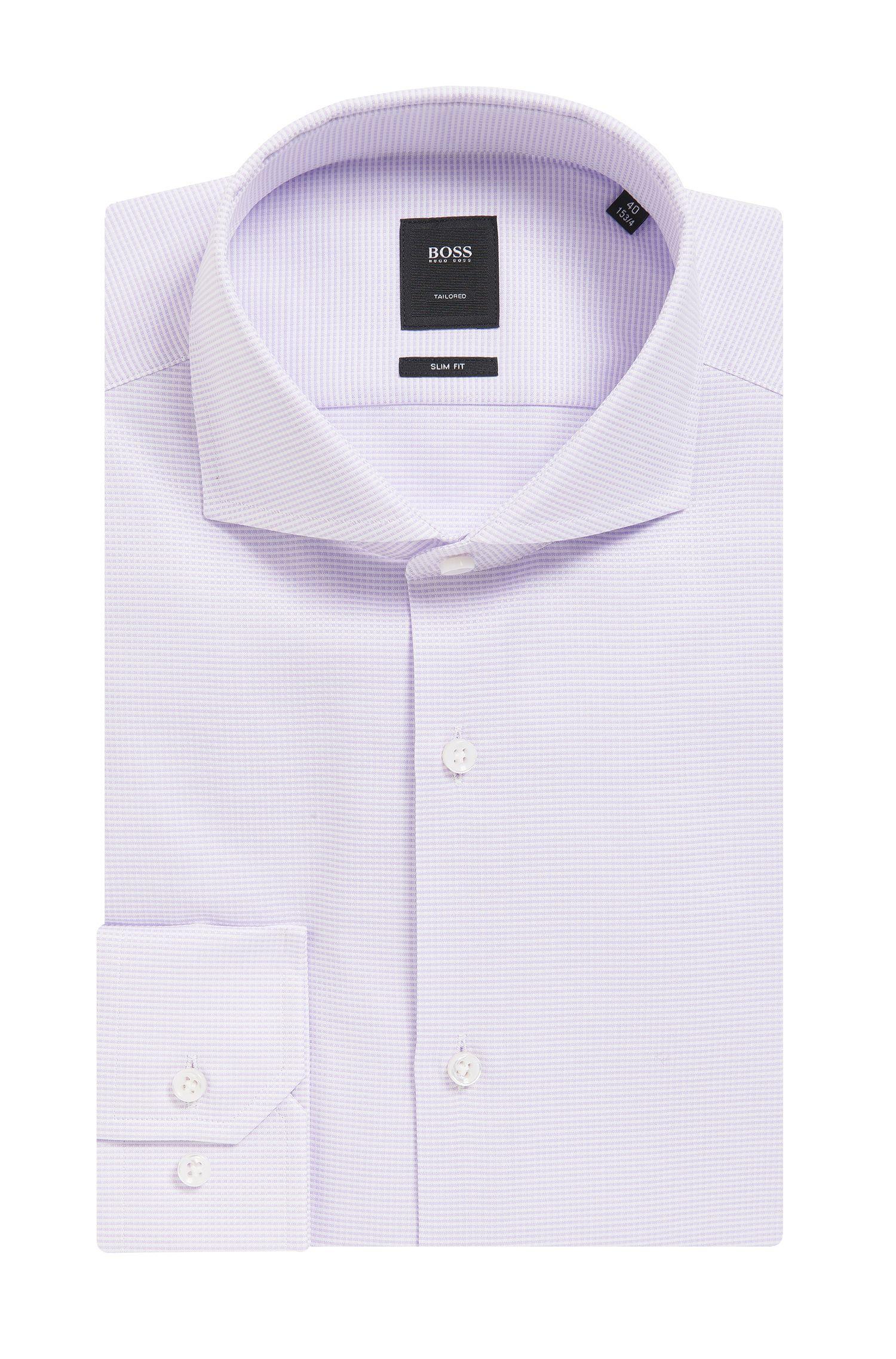 'T-Christo' | Slim Fit, Mini-Check Cotton Dress Shirt