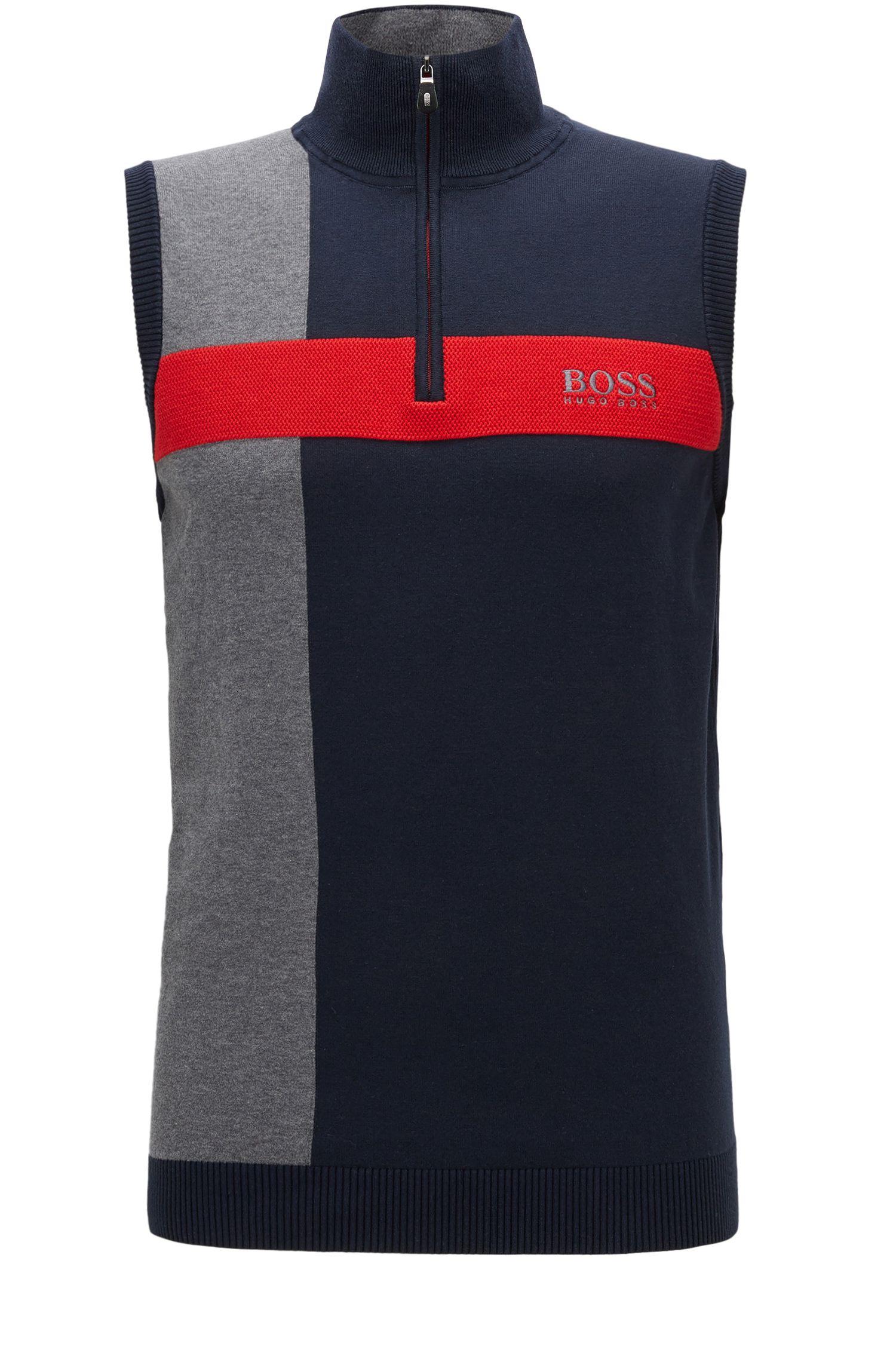 'Zagi Pro W17' | Coloblocked Stretch Cotton Sweater Vest