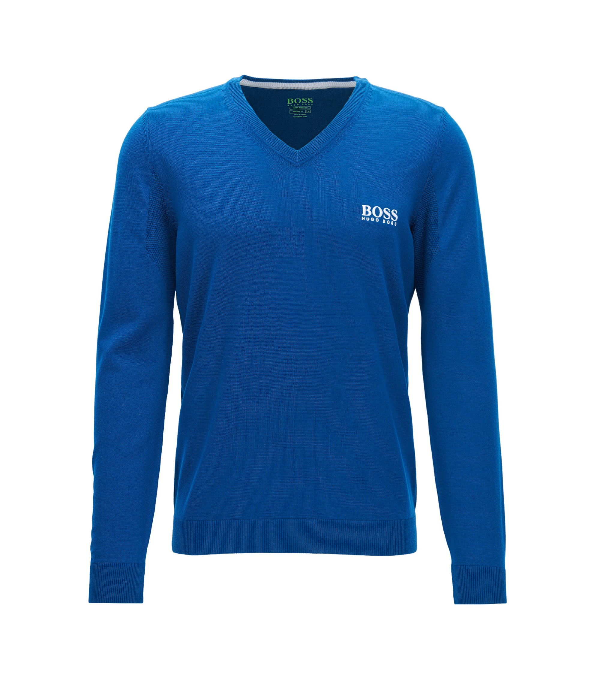 Virgin Wool Sweater | Veeh Pro, Open Blue