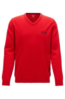 Virgin Wool Sweater | Veeh Pro, Red