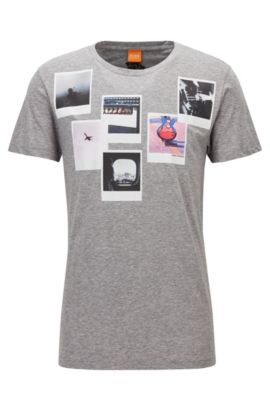 Pima Cotton Graphic T-Shirt | Taxable, Light Grey
