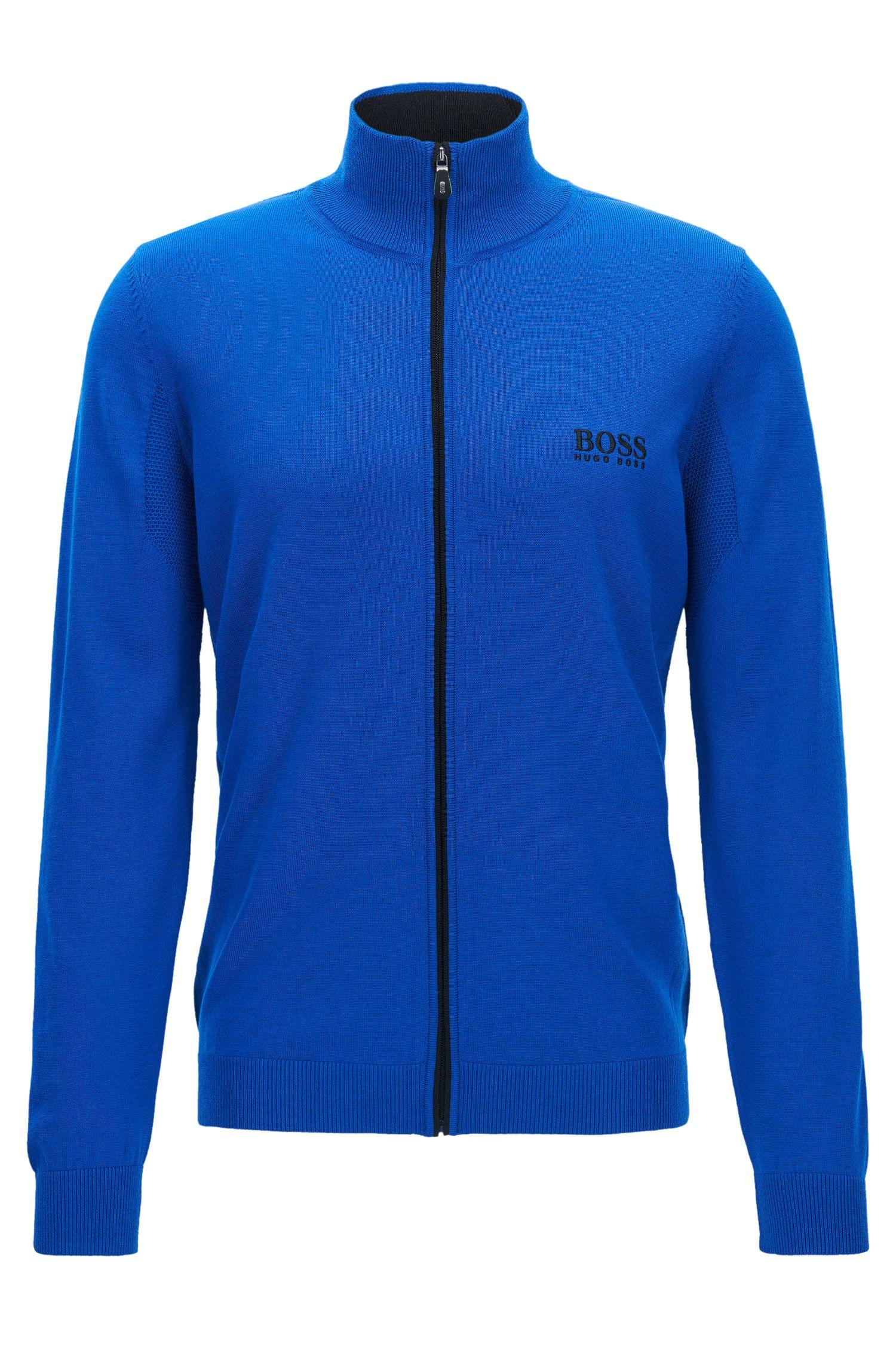 Virgin Wool Full-Zip Sweater Jacket   Zeen Pro
