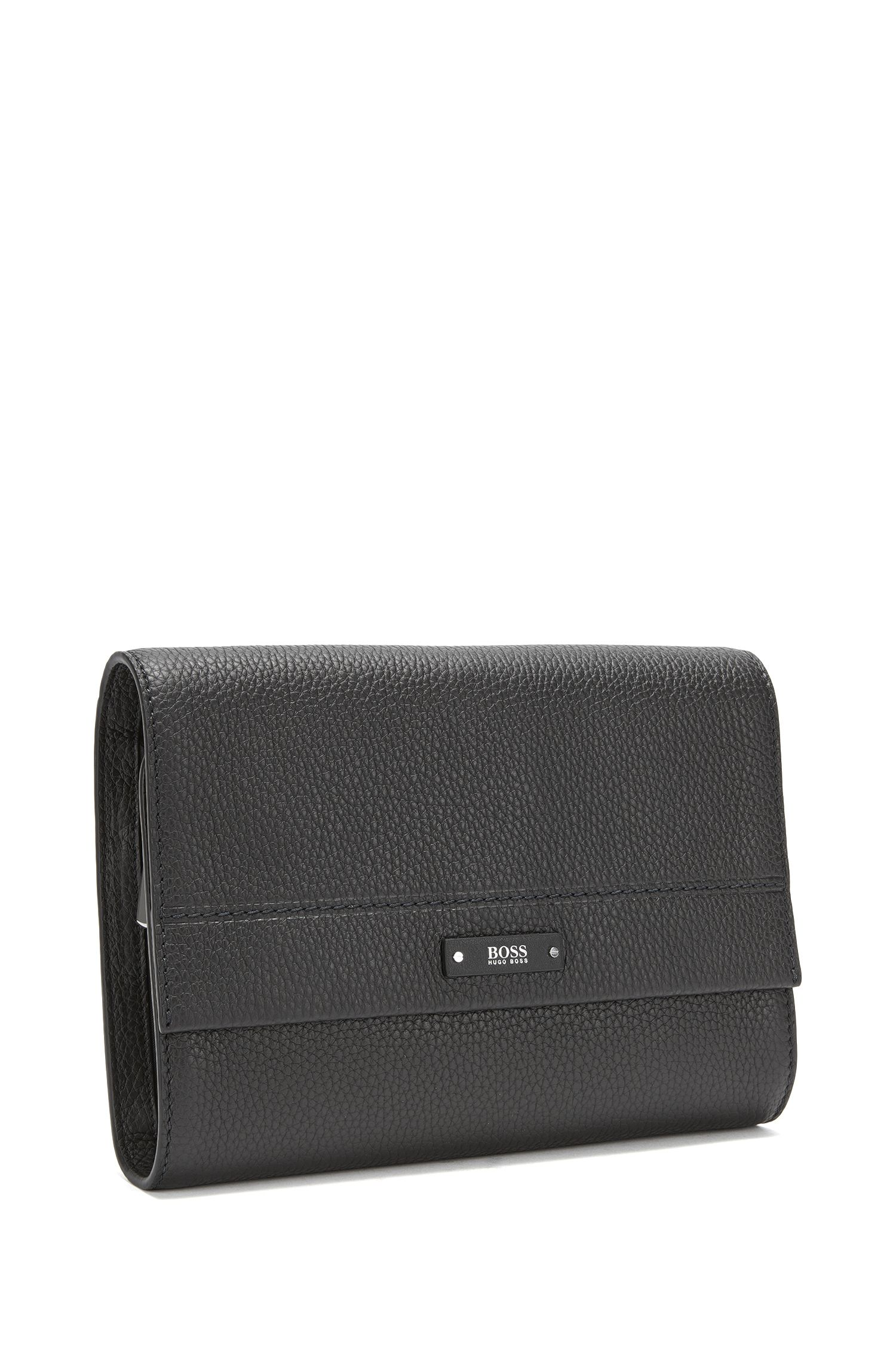 Leather Washbag | Traveller Washb, Black