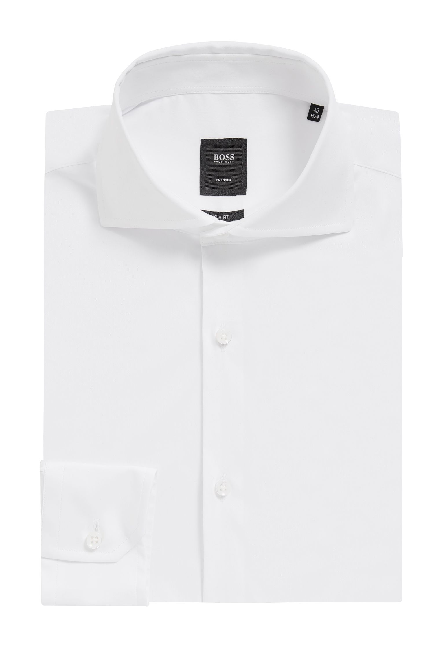Stretch Cotton Dress Shirt with Stretch Tailoring, Slim Fit | T-Christo