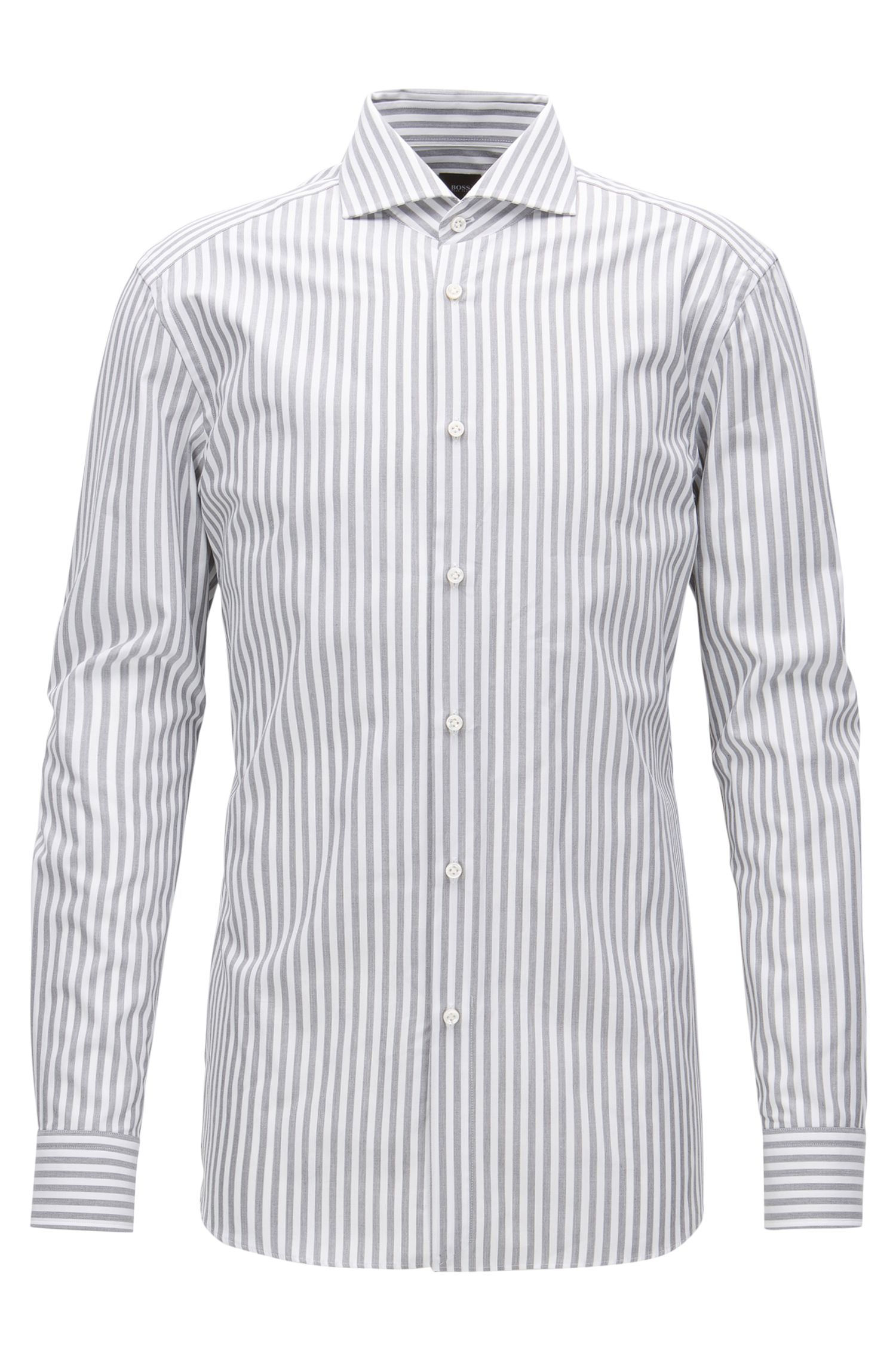 Italian Cotton Dress Shirt, Slim Fit | T-Christo