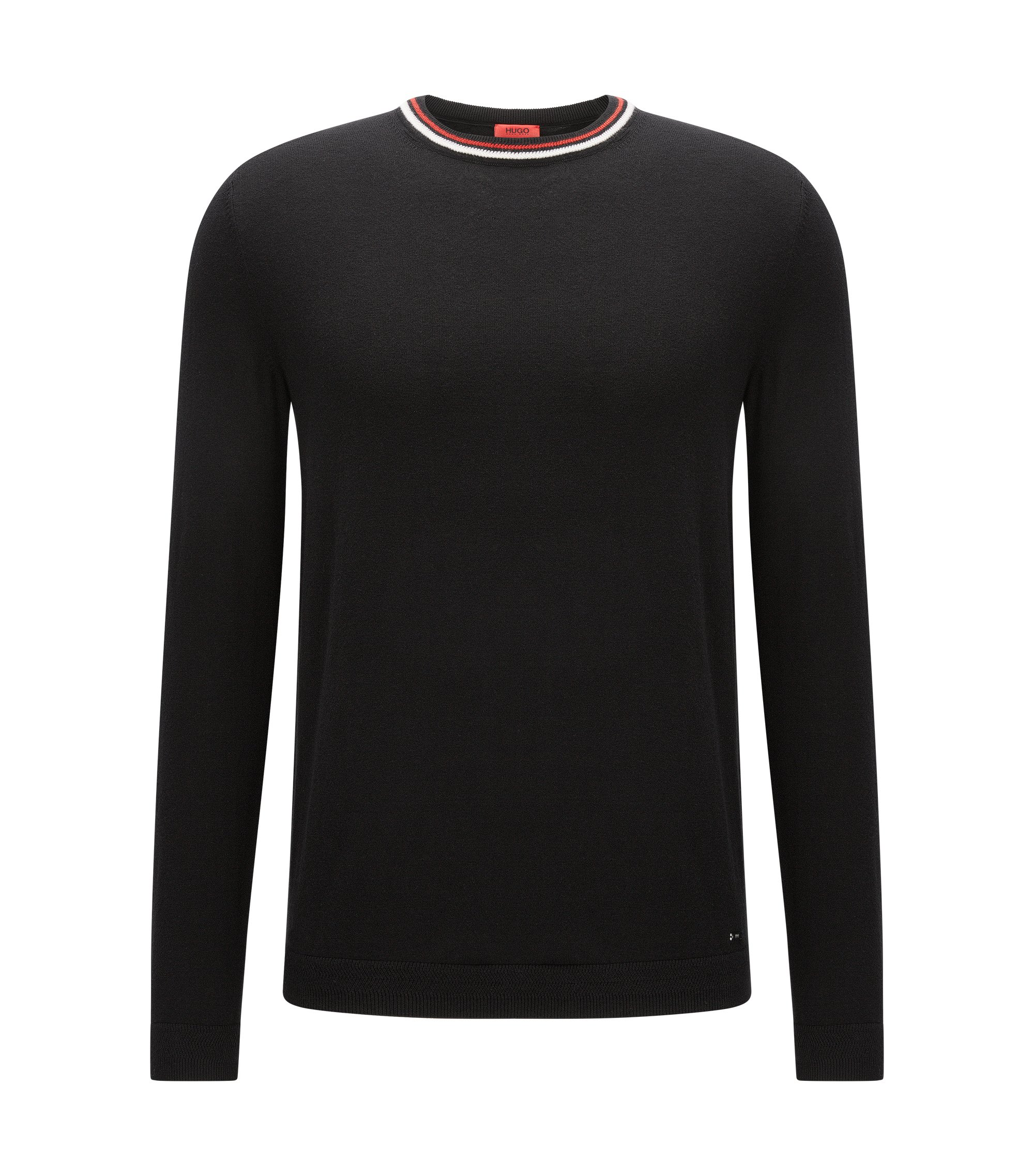 Cotton-Cashmere Sweater | Sabo, Black