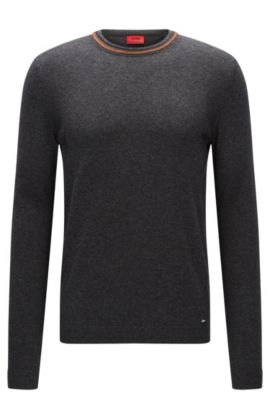 Cotton-Cashmere Sweater | Sabo, Charcoal