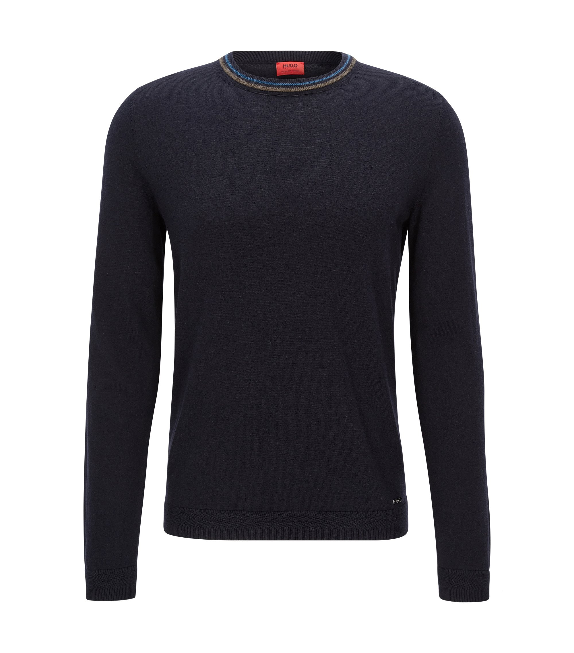 Cotton-Cashmere Sweater | Sabo, Dark Blue