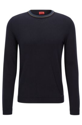 Cotton-Cashmere Sweater | Sabo, Dark Blue