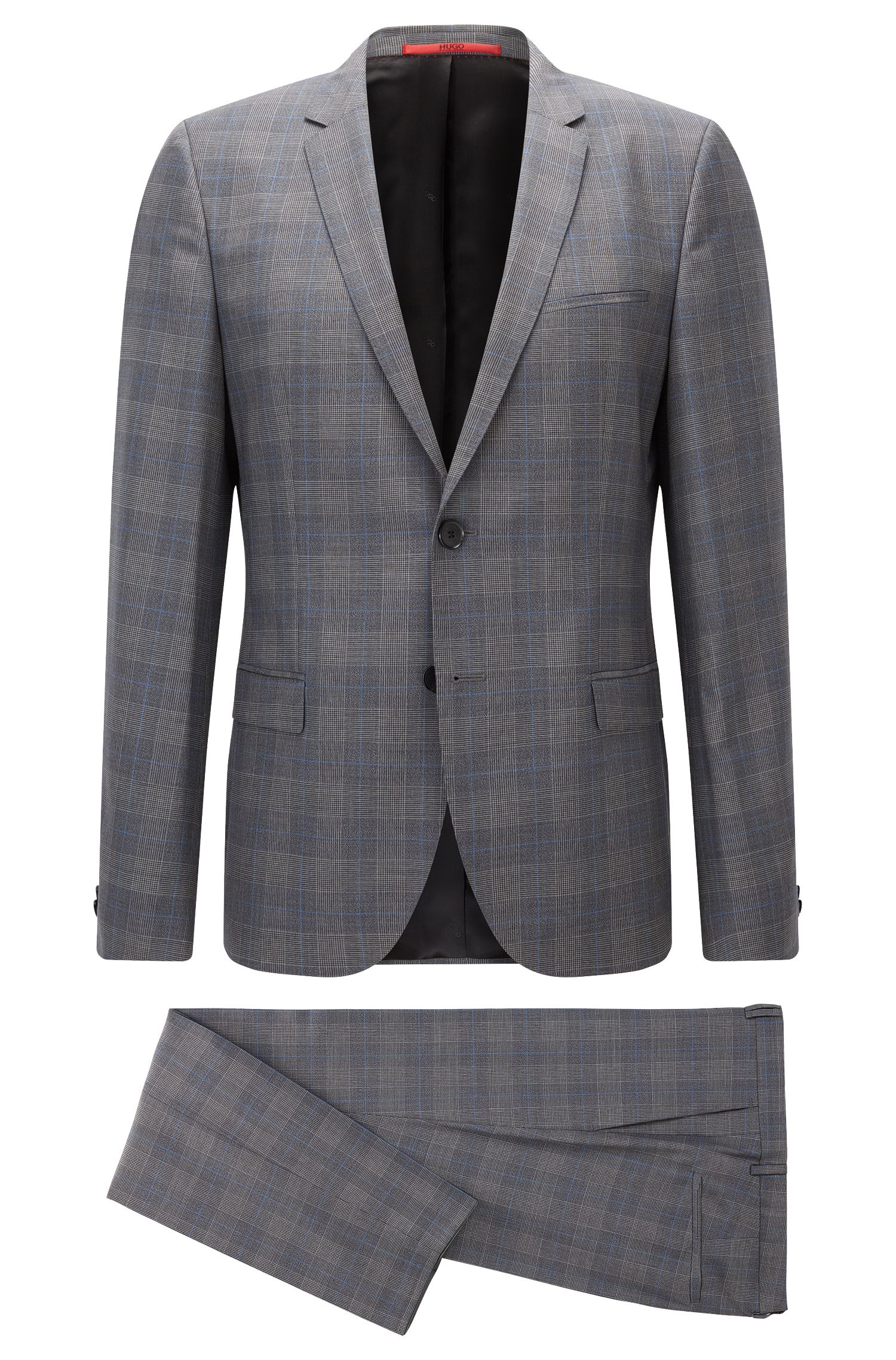 Plaid Virgin Wool Suit, Extra Slim Fit | Arti/Heston