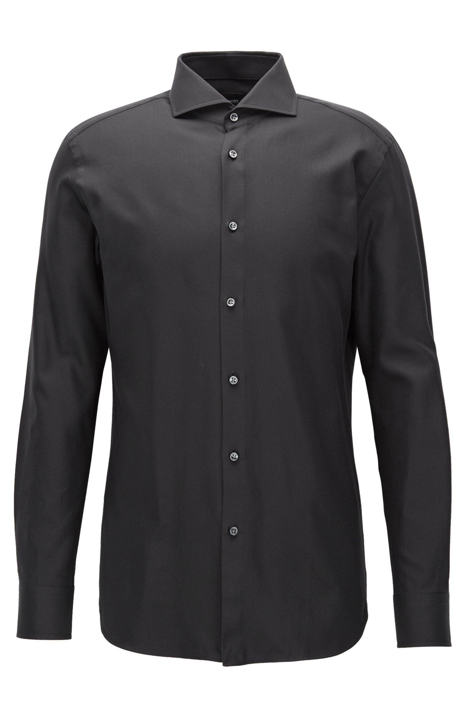 Cotton Twill Dress Shirt, Slim Fit | T-Christo