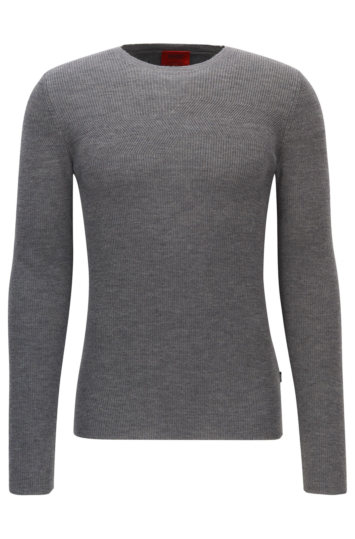 Ribbed Virgin Wool Sweater | Sarow
