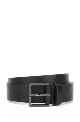 Embossed Leather Belt | Cermes, Black