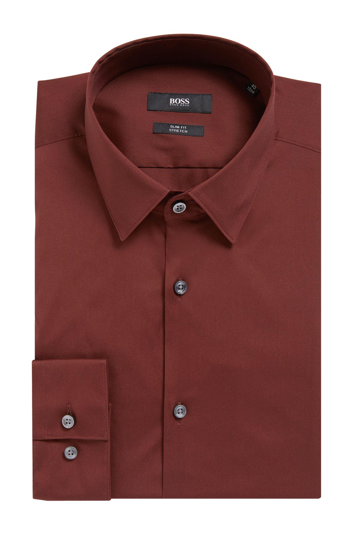 Stretch Cotton Dress Shirt, Slim Fit | Isko