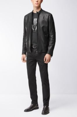 b119b337023 BOSS - Sheepskin Biker Jacket