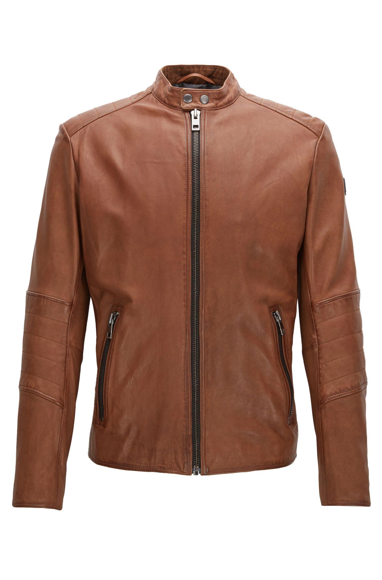 Sheepskin Biker Jacket   Jeeper