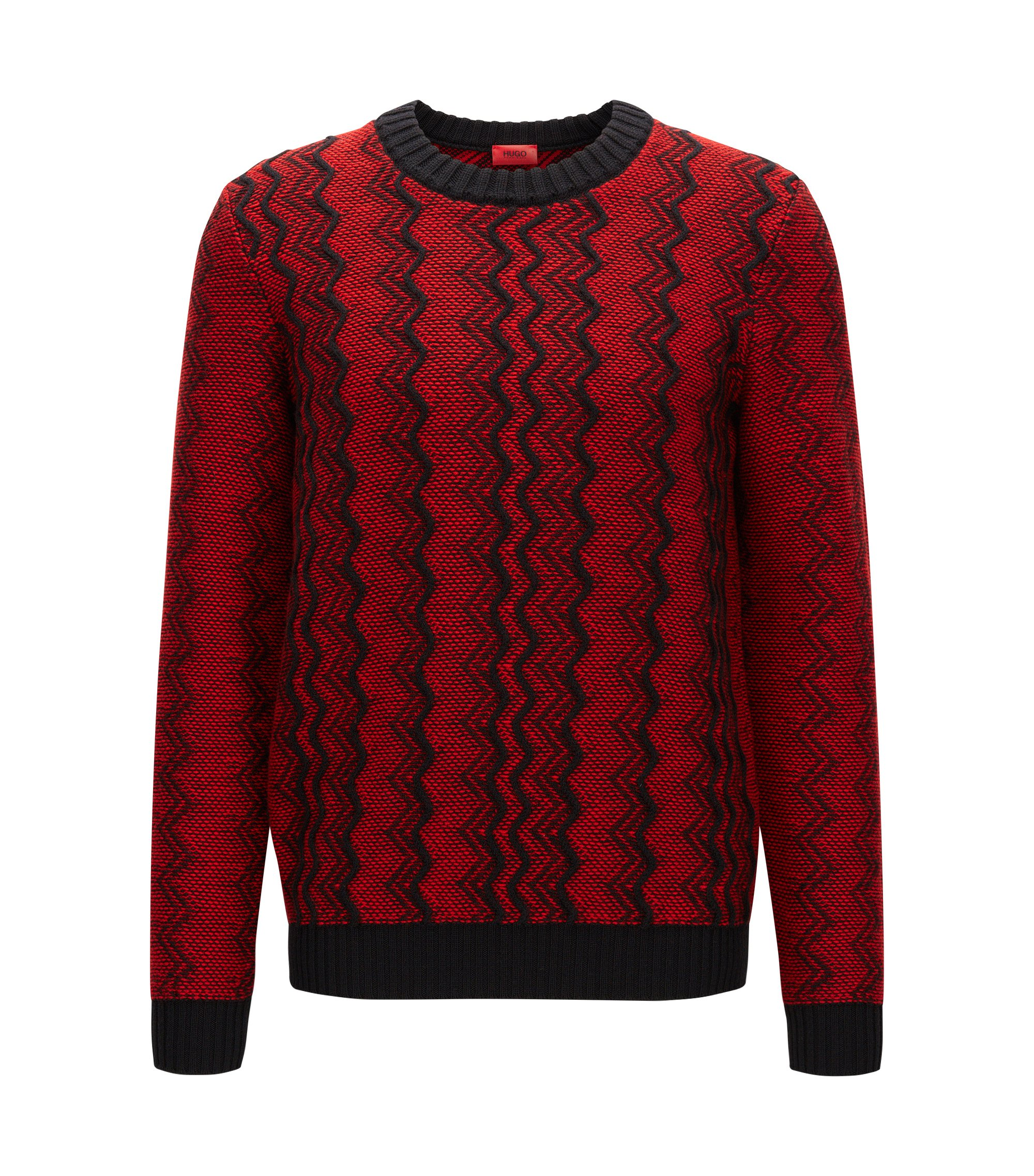 Zig Zag Virgin Wool Sweater | Sigsag, Red