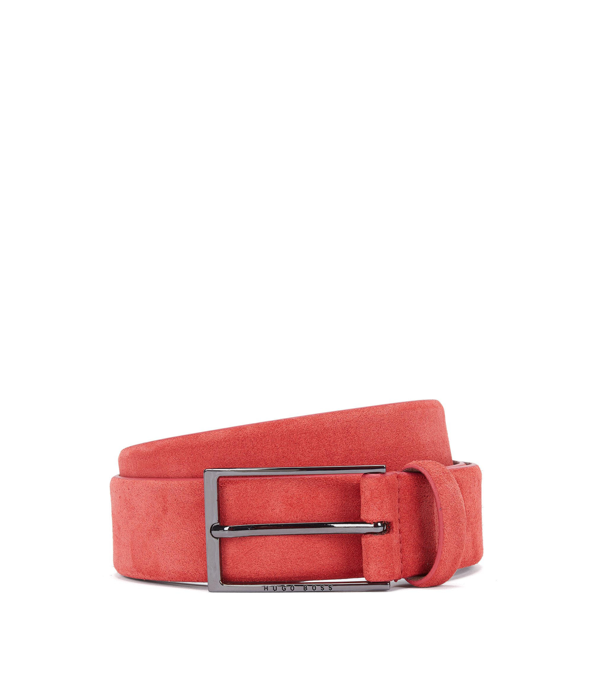 Suede Belt | Calindo Sz Sd, Dark Orange