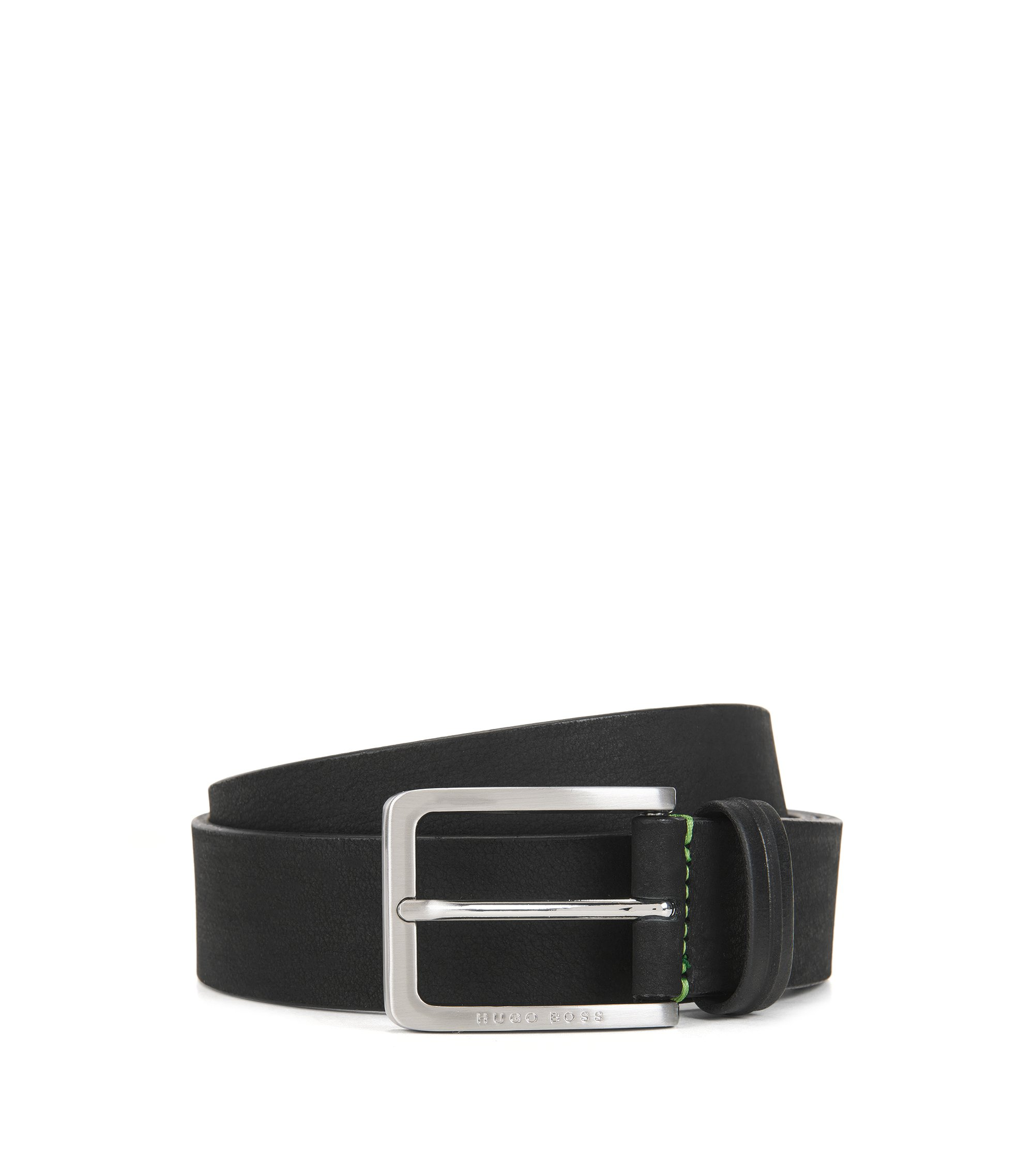 Leather Embossed Belt | Teseo Sz Nu, Black