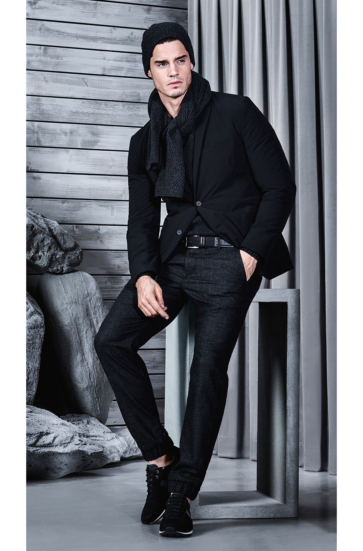 Leather Embossed Belt | Teseo Sz Nu, Black