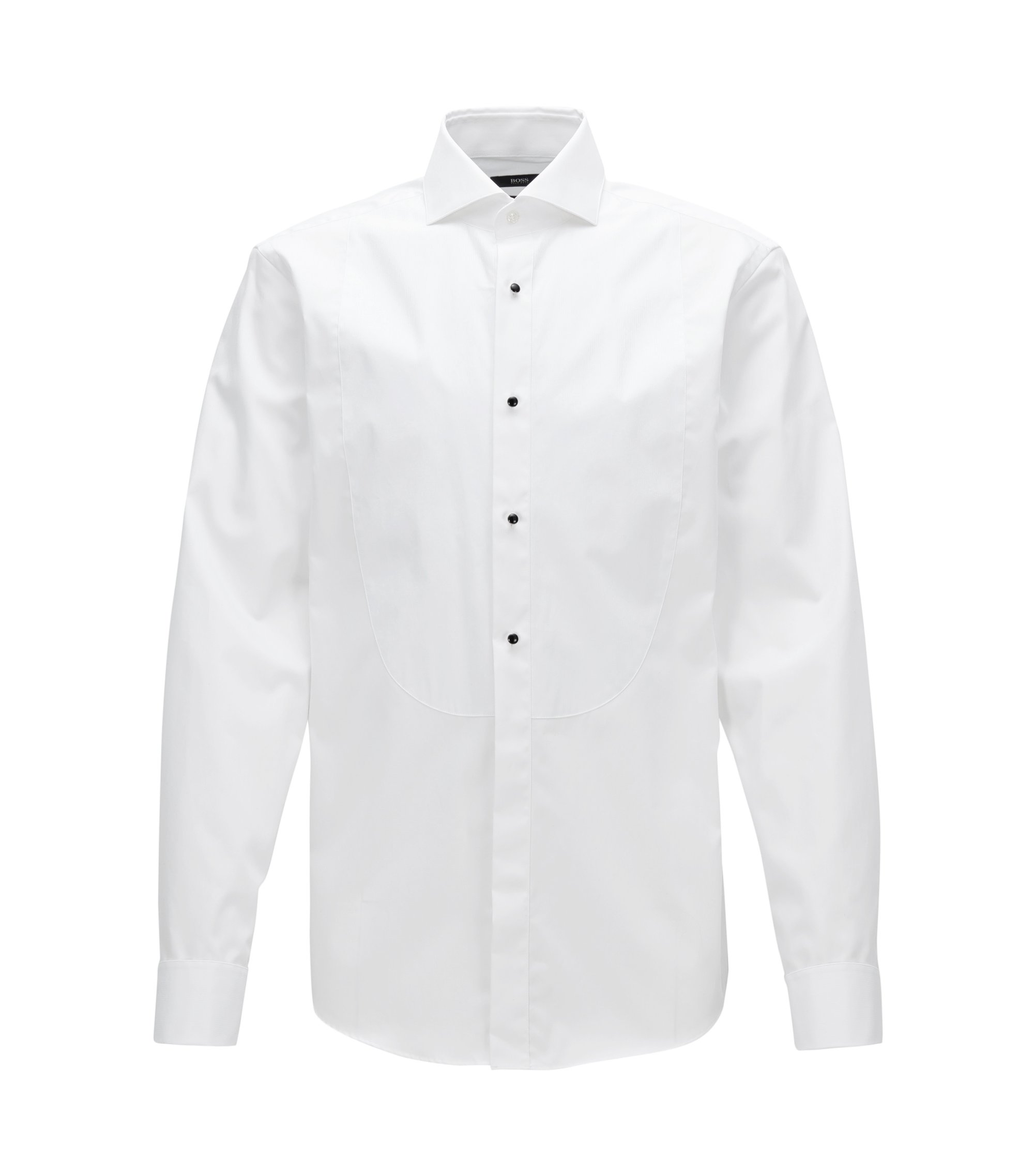 Easy Iron Cotton Tuxedo Shirt, Regular Fit | Grant, White