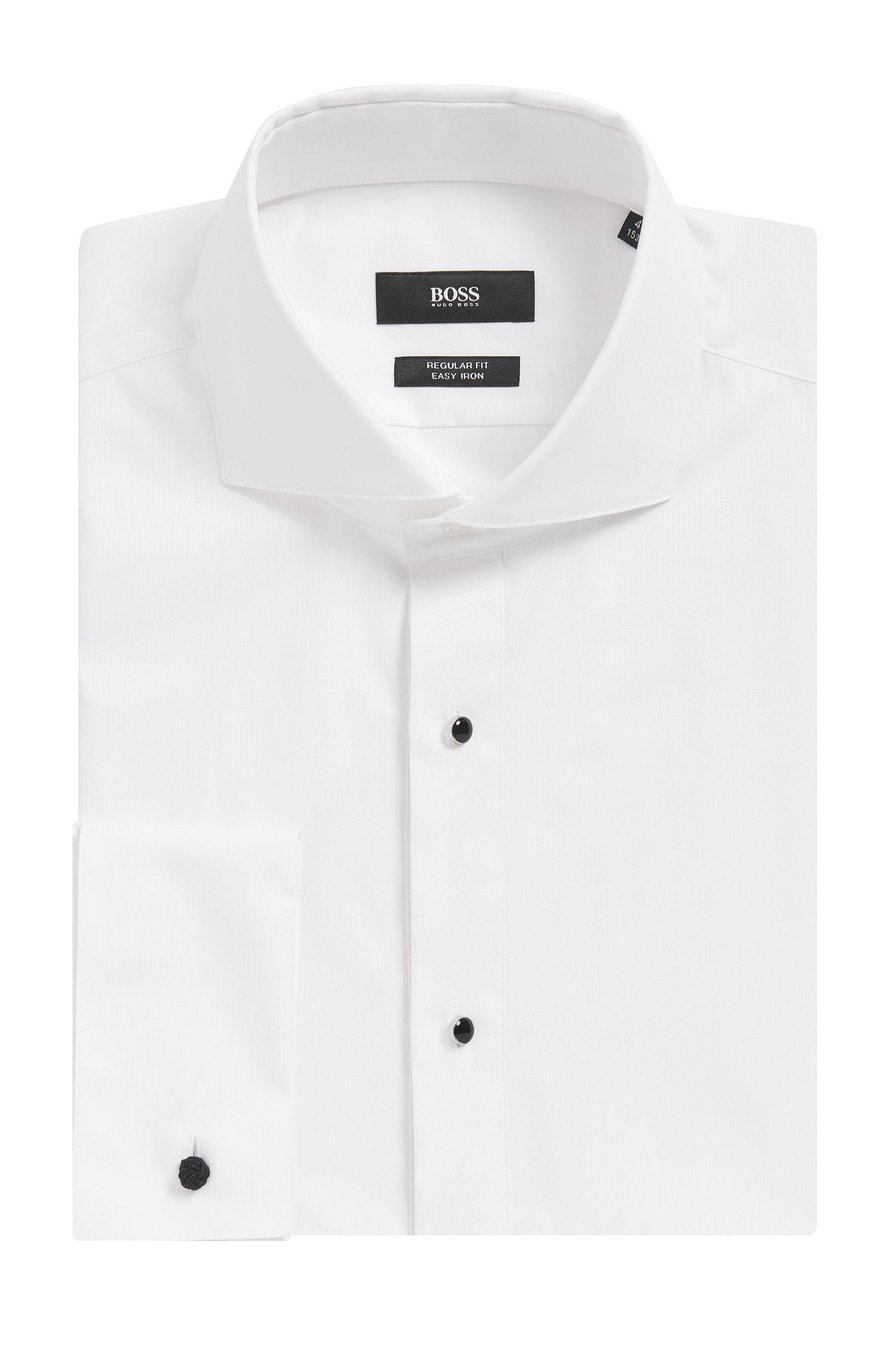 Easy Iron Cotton Tuxedo Shirt, Regular Fit | Grant