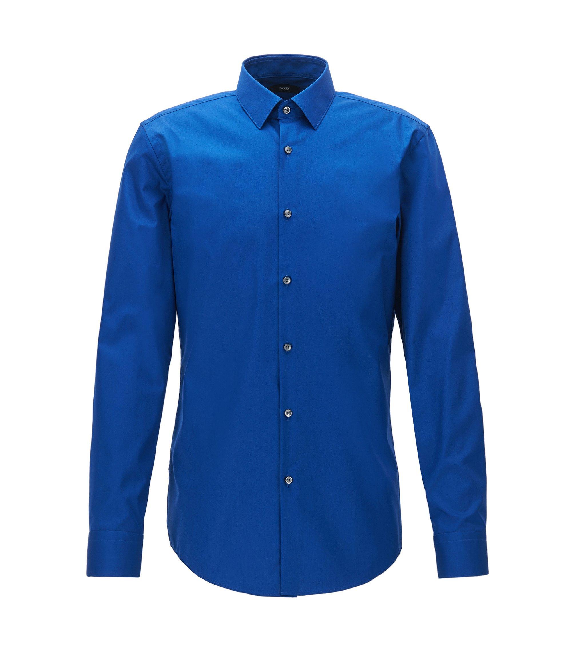 Easy Iron Cotton Dress Shirt, Slim Fit | Isko, Blue