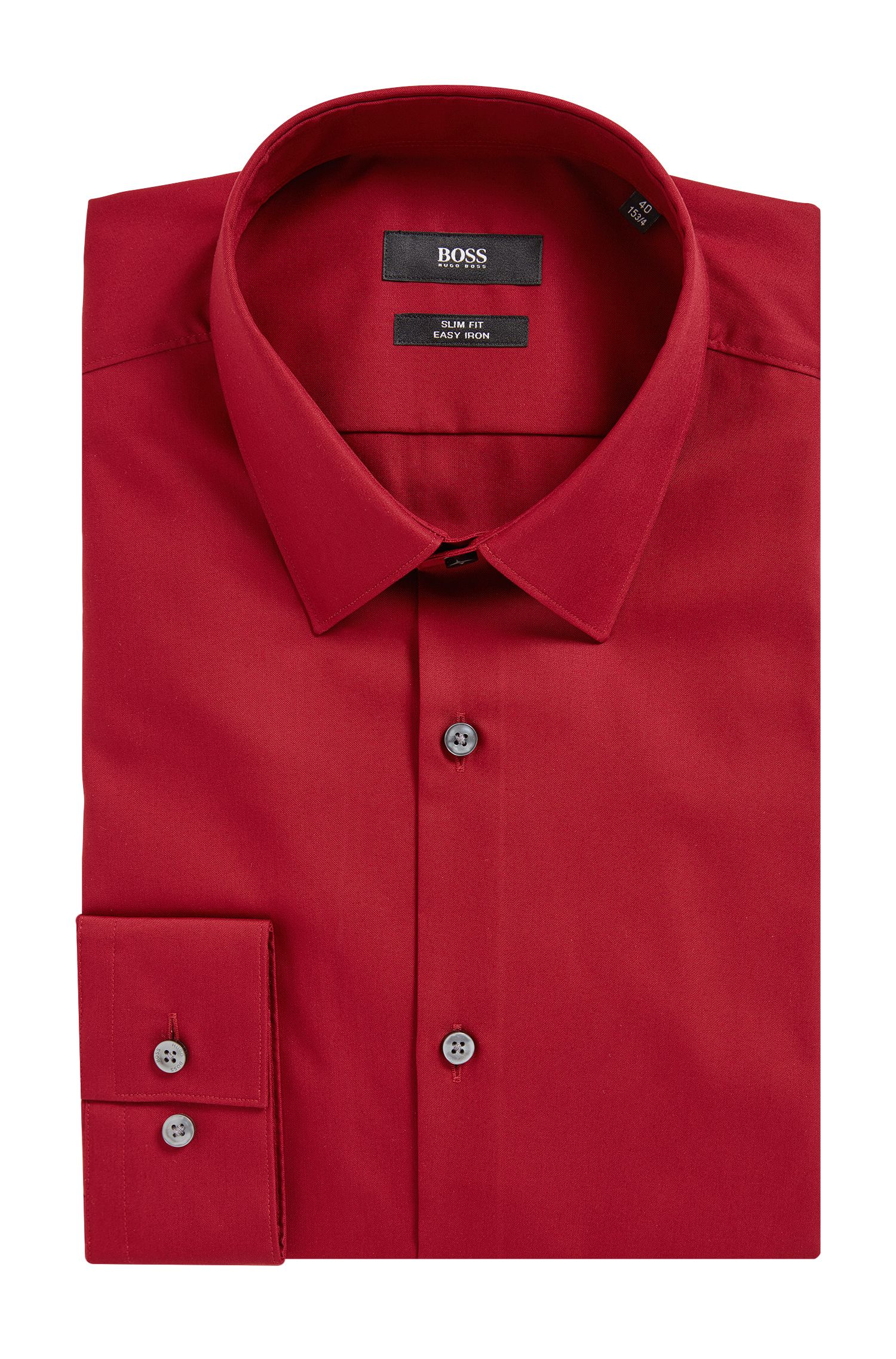 Easy Iron Cotton Dress Shirt, Slim Fit | Isko