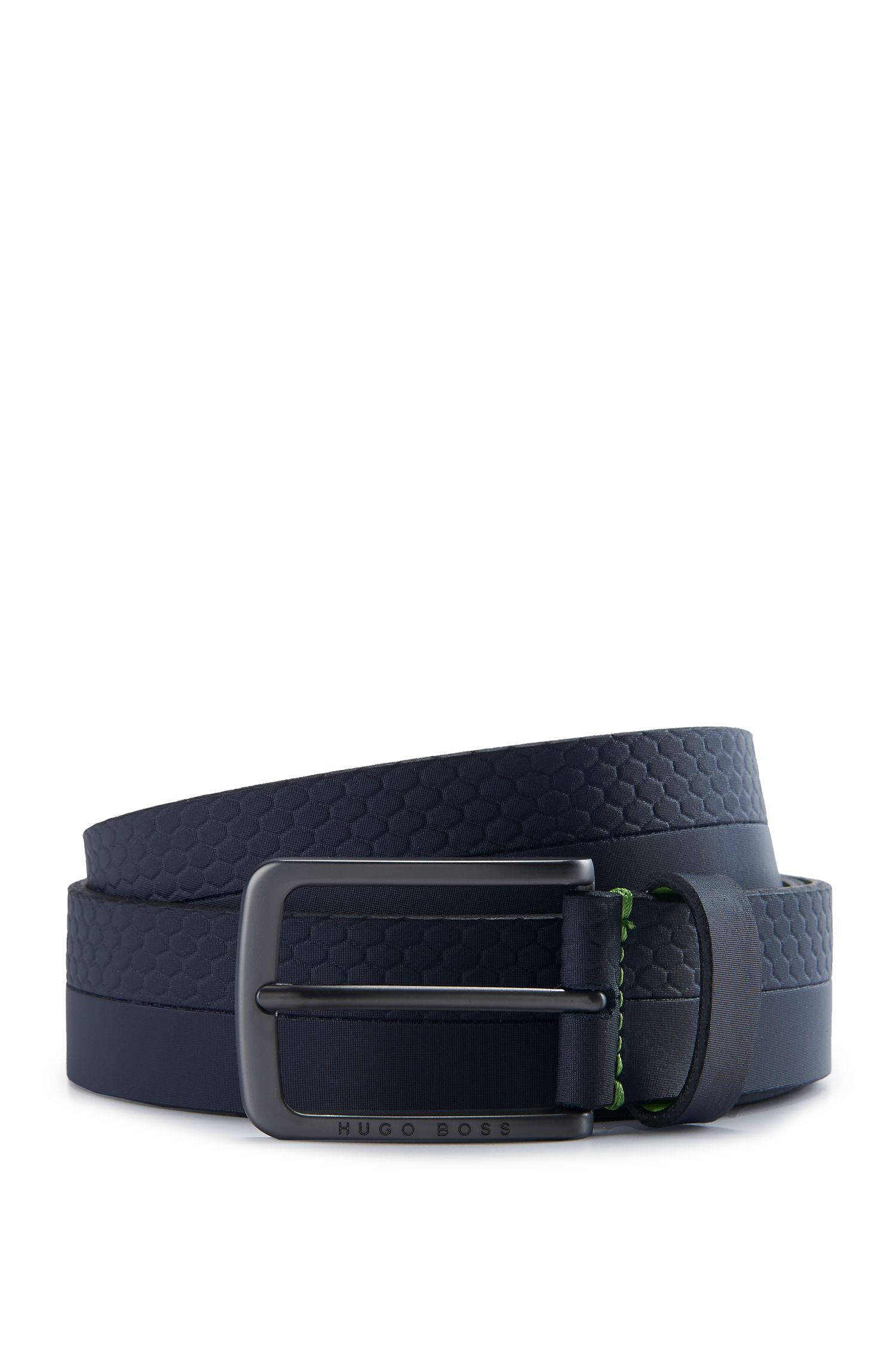 Leather Belt | Tali Sz Item, Dark Blue