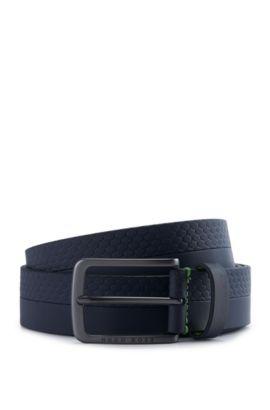 Leather Belt | Tali Sz Item, Dark Blue