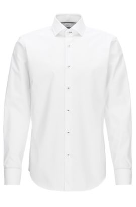 Easy-Iron Cotton Dress Shirt, Regular Fit | Glent, White