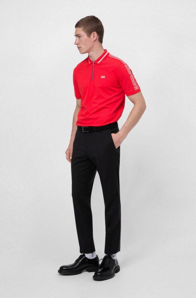 Extra-slim-fit pants in virgin-wool stretch poplin