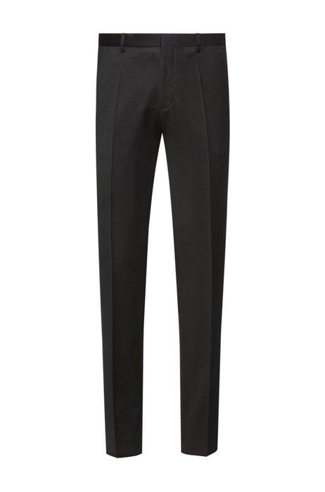 Pantalon Extra Slim Fit en laine vierge à la teinture pigmentaire, Noir