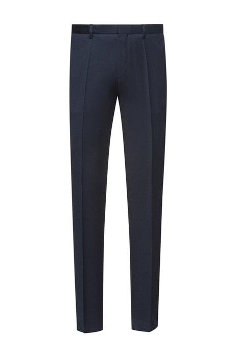 Pantalon Extra Slim Fit en laine vierge à la teinture pigmentaire, Bleu foncé